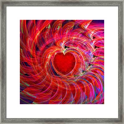 My Heart Is All A Flutter Framed Print by Michael Durst