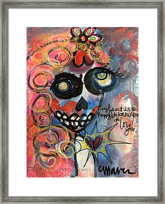 My Heart Is So Happy To Know You Framed Print by Laurie Maves ART