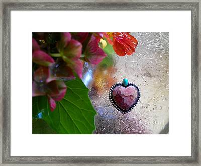 My Heart Is With You Framed Print