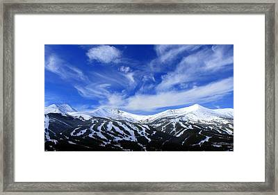 My Heart Lies In The Mountains Framed Print by Fiona Kennard