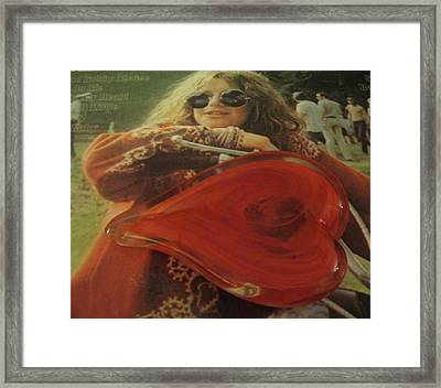 My Heart Loves Janis Joplin Framed Print