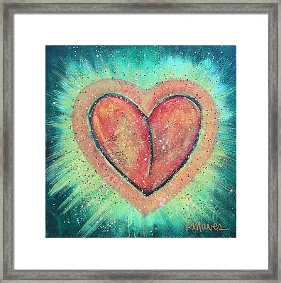My Heart Loves You Framed Print by Laurie Maves ART