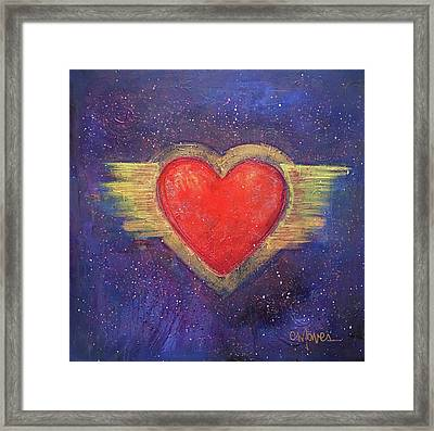 My Heart My Strength Framed Print by Laurie Maves ART