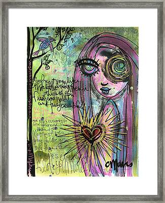 My Heart Sings Like This Little Bird Framed Print by Laurie Maves ART