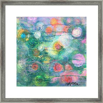Framed Print featuring the painting My Heart Will Find You by Laurie Maves ART