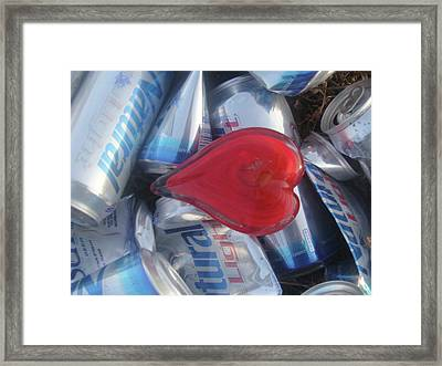 My Hearts Drunk With Love Framed Print