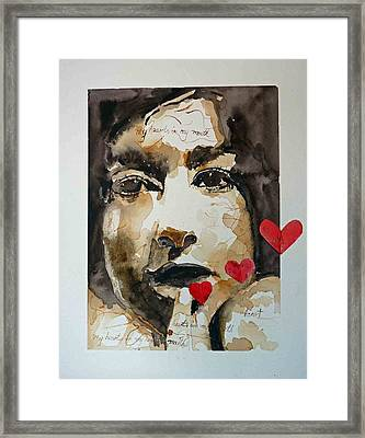 Framed Print featuring the painting My Hearts In My Mouth by P Maure Bausch