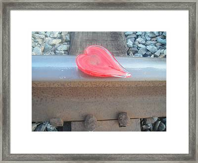 My Hearts On The Right Track Framed Print by WaLdEmAr BoRrErO