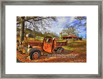 My Hiding Place Psalm 119 Framed Print