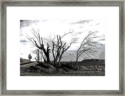 My Home Town-after The Storm Framed Print by Robert Litewka