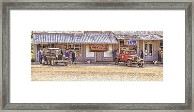 My Home Town Framed Print by Ron  McGinnis