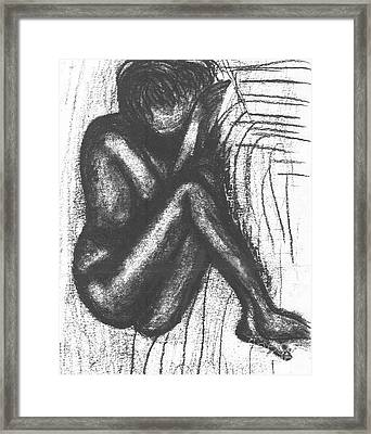 My Humble Spirit Base Drawing Framed Print by Angela L Walker