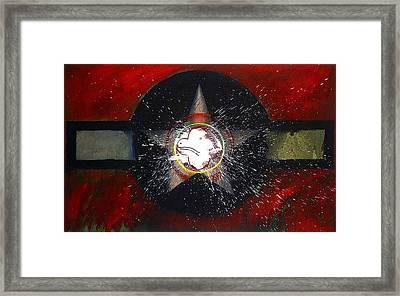 Framed Print featuring the painting My Indian Red by Charles Stuart