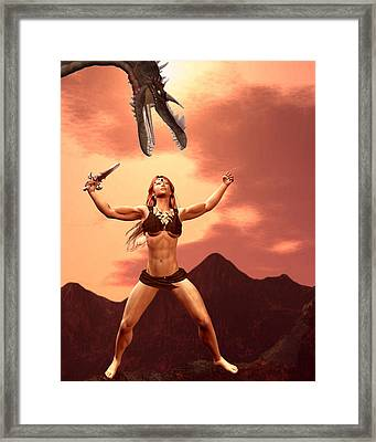 My Inner Beauty And Strength  Framed Print by Lisa Roy