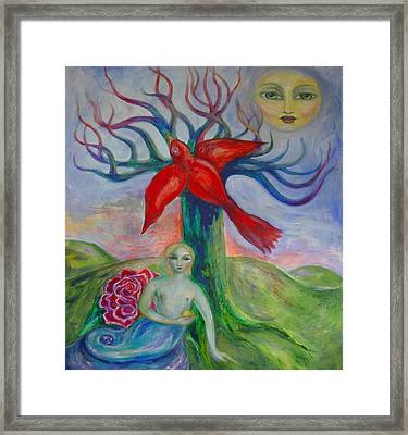 My Inner Mermaid Framed Print by Shoshanna Lightsmith