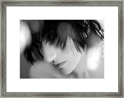 What They Don't See - Self Portrait Framed Print by Jaeda DeWalt
