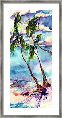 Framed Print featuring the painting My Island In The Sun by Ginette Callaway