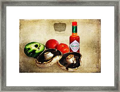 My Italian Cuisine Framed Print by Kaye Menner