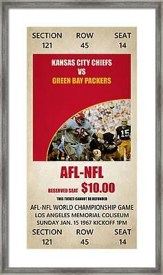 My Kansas City Chiefs Super Bowl Ticket Framed Print