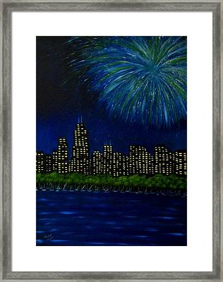 My Kind Of Town Framed Print by Marie Lamoureaux