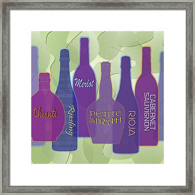 My Kind Of Wine Framed Print by Tara Hutton