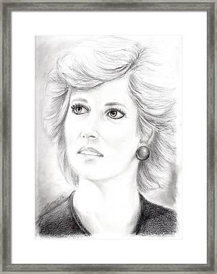 My Lady D Framed Print