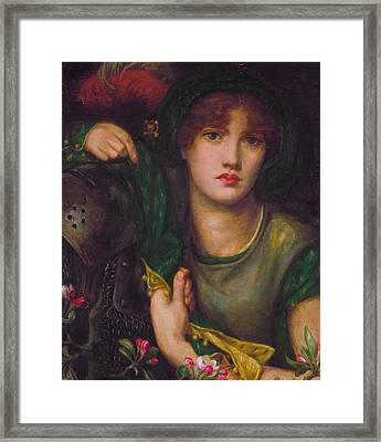 My Lady Greensleeves Framed Print by Dante Gabriel Rossetti