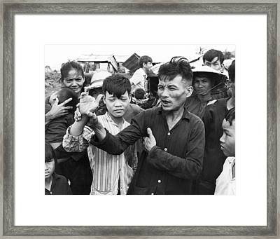 My Lai Massacre Victims Framed Print by Underwood Archives