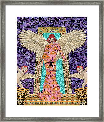 My Last Zumba Dance At The Doorway To Heaven. Framed Print by Alan Morrison