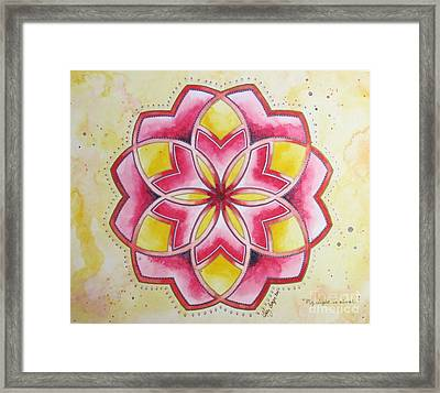My Light Is Eternal Framed Print by Holly Burger