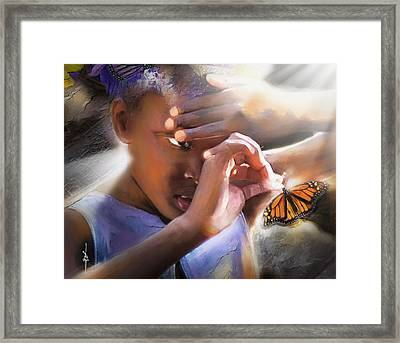 My Little Butterfly Framed Print
