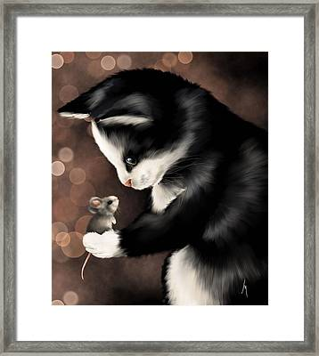 My Little Friend Framed Print by Veronica Minozzi
