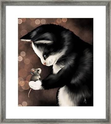 My Little Friend Framed Print