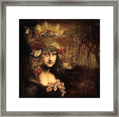 My Little Secret - Mona Lisa Framed Print