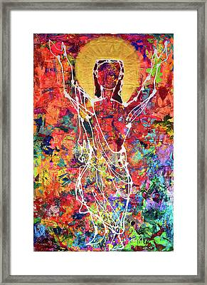 My Lord,my World,my Style-flowing Through My Heart Framed Print
