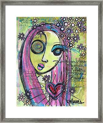 My Love For You Blooms Framed Print by Laurie Maves ART