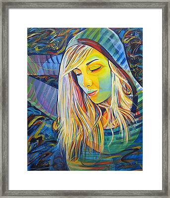Framed Print featuring the painting My Love by Joshua Morton