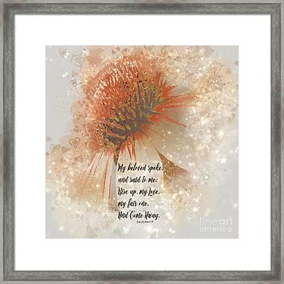 My Love My Fair One Framed Print
