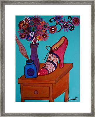 Framed Print featuring the painting My Love by Pristine Cartera Turkus