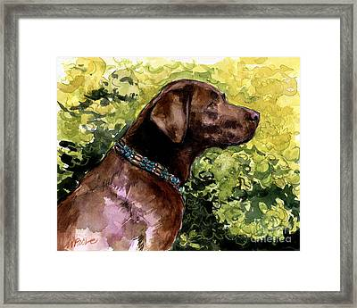 Framed Print featuring the painting My Lucky Charm by Molly Poole
