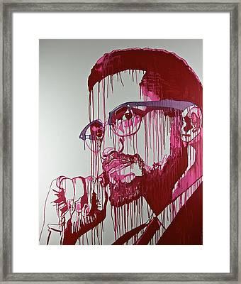 My Man Red Framed Print by Jiian Chapoteau