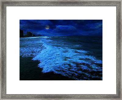 My Melancholy Moon Framed Print by Elyza Rodriguez