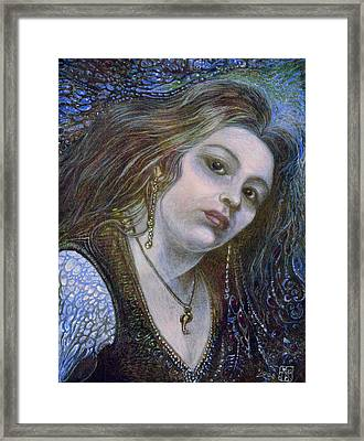 My Mermaid Christan Framed Print