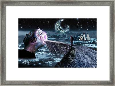My Mind Is Glowing Framed Print by Andy King Art