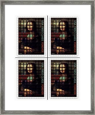 My Mona Lisa Weave  4 Framed Print by Teodoro De La Santa