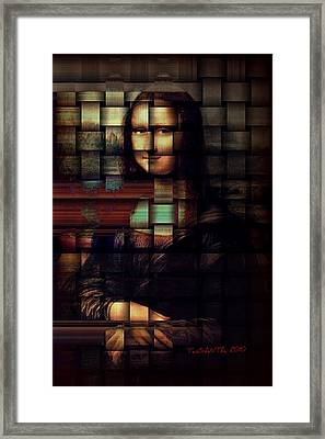 My Mona Lisa  Weave Series Framed Print by Teodoro De La Santa