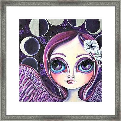 My moon Phase Angel Original Framed Print by Jaz Higgins