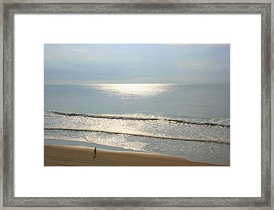 My Morning Run Framed Print by Julie Lueders