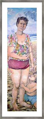 My Mother Had Picked Up Shells - Ma Mere Ramassait Des Coquillages Framed Print