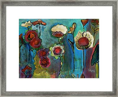 Framed Print featuring the painting My Mother's Garden by Susan Stone